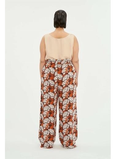 Luokk Vıcky Yüksek Bel Kadın Pantolon Renkli